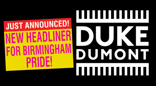 Birmingham Pride announces Duke Dumont as headline act
