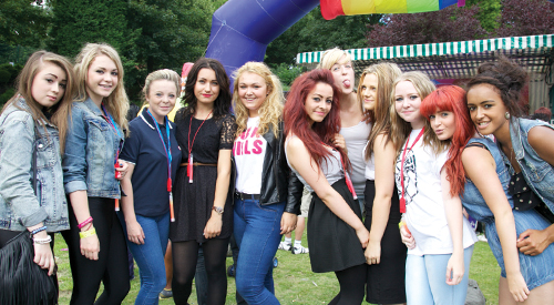 Staffordshire's Galaxy youth group scores a hit at Stoke Pride