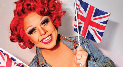 Drag star La Voix begins Eurovision campaign at Birmingham gay bar tonight
