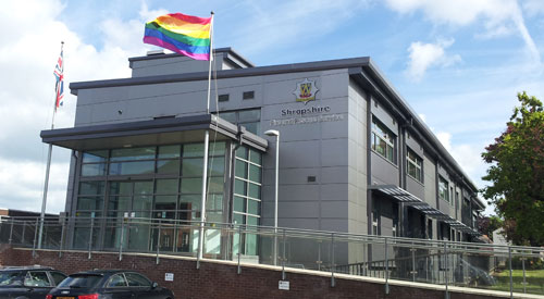 Shropshire Fire & Rescue Service flies rainbow flag in support of IDAHO