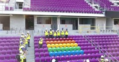 Former Stoke City owner unveils 49 rainbow seats at Orlando soccer club to honour shooting victims