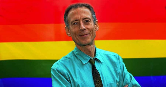 Peter Tatchell at Wolverhampton university for LGBT History Month