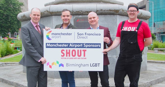 Manchester Airport sponsors SHOUT Festival