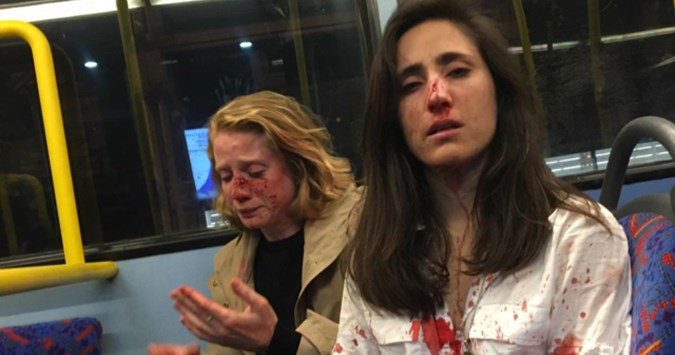 Four teens deny homophobic harassment of lesbian women on London night bus