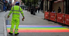 Nottingham city centre gets new rainbow road to celebrate Pride 2019
