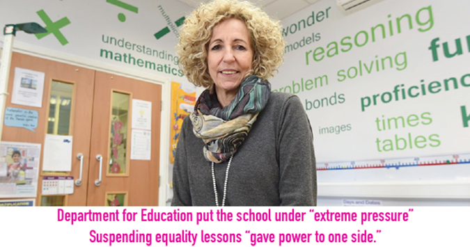 We should never have stopped teaching No Outsiders lessons, says school boss!