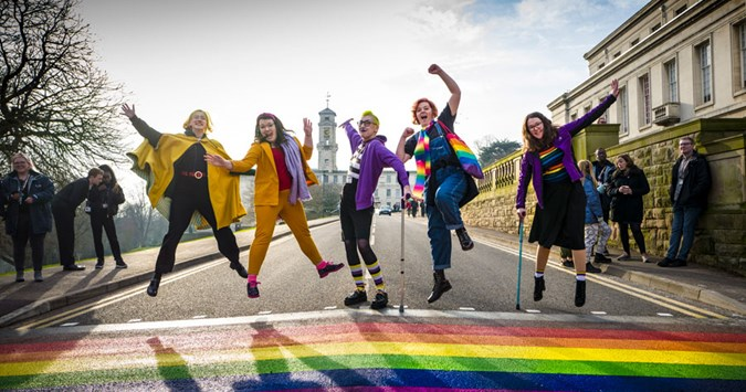 Colourful zebras: University of Nottingham goes crossings crazy for LGBT History Month
