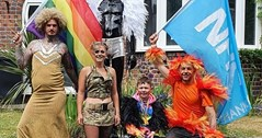 Alternative celebration: Black Country family hold Pride parade in their street