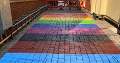 Pride in Brum! First a rainbow crossing, now Birmingham gets a fabulous rainbow walk!