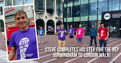 He's done it! Steve Ball completes Brum to London walk for Birmingham Rep